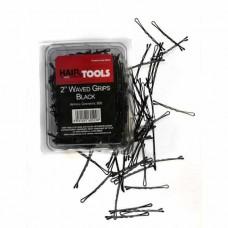 """Hair Tools 2"""" Waved Grips Black - 500 τμχ (60522)"""