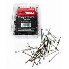 """Hair Tools 2"""" Waved Grips Brown - 500 τμχ (60520)"""