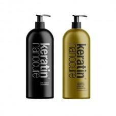 Keratin Nanocure Pre- Keratin Shampoo & Gold 24ct Treatment 1000ml
