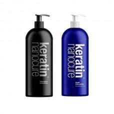 Keratin Nanocure Pre- Keratin Shampoo 1000ml & Collagen Treatment 1000ml