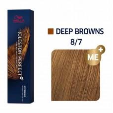 Wella Koleston Perfect Me Plus Deep Browns 8/7 60ml
